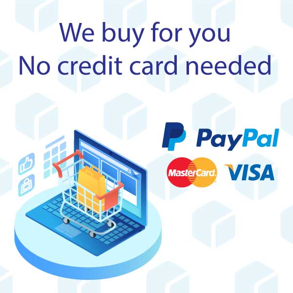 Using our credit cards and Paypal accounts, ish7anli buys for you in secure ways to make your transaction as smooth as possible.